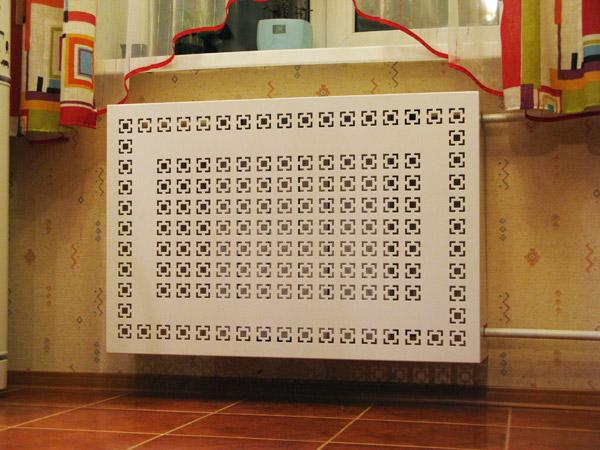 Декоративная решетка на радиатор отопления своими руками