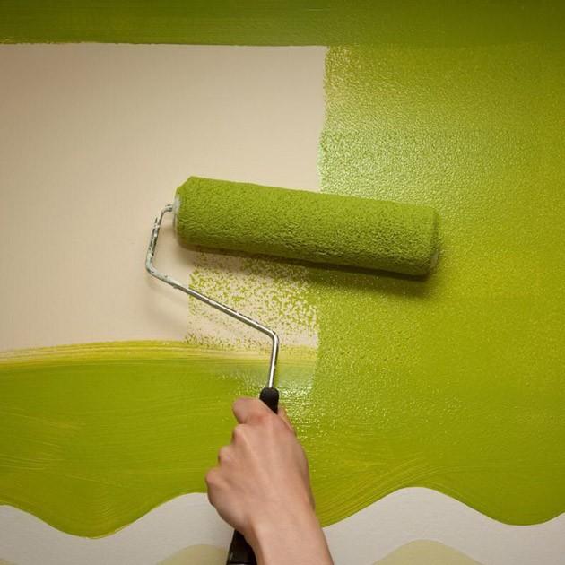 покраска стены водоэмульсионкой